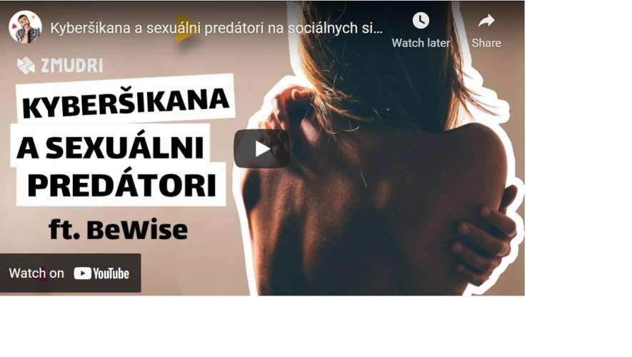 VIDEO: Kyberšikana a sexuálni predátori na sociálnych sieťach