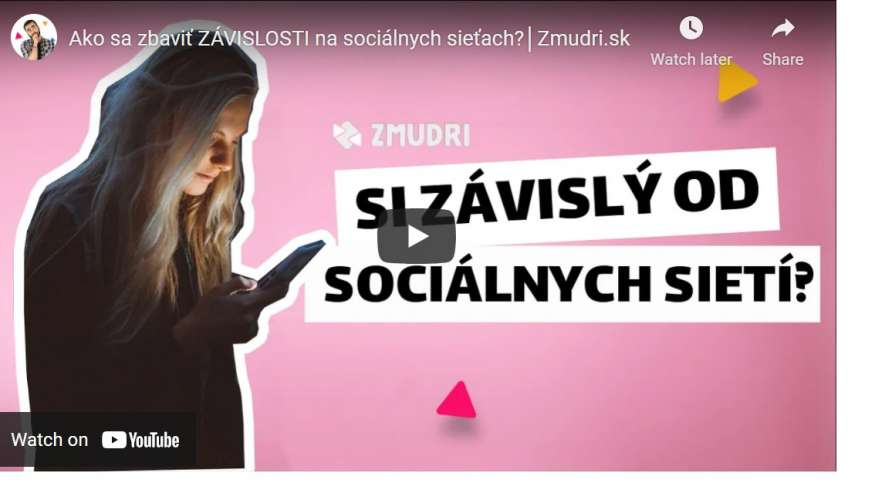 VIDEO: Ako sa zbaviť závislosti na sociálnych sieťach